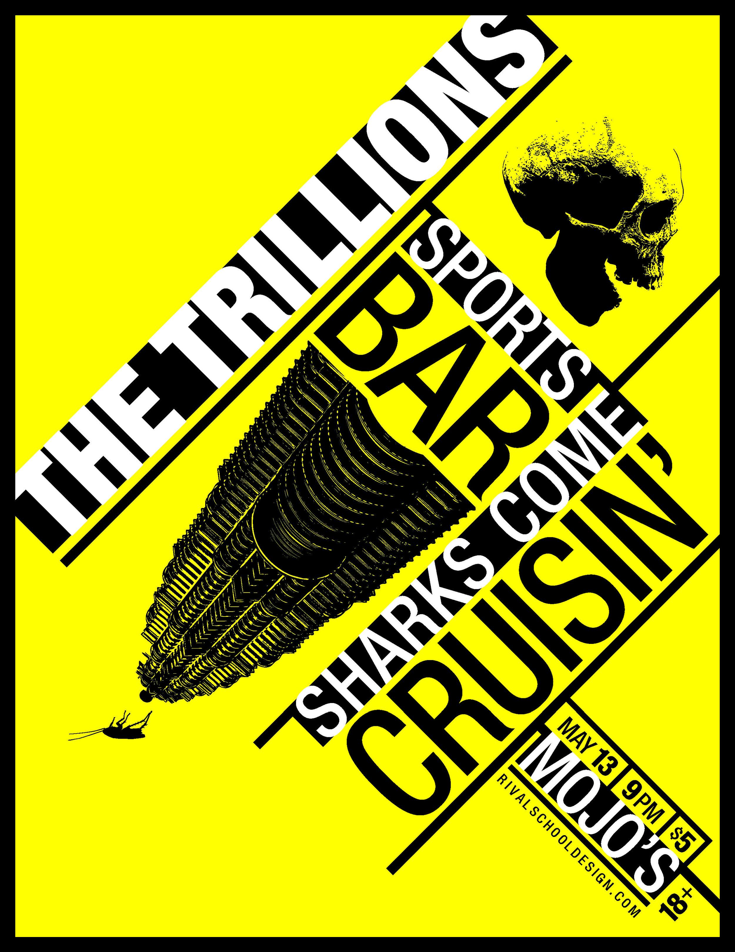 The Trillions - Mojo Show Poster - Y&B.jpg
