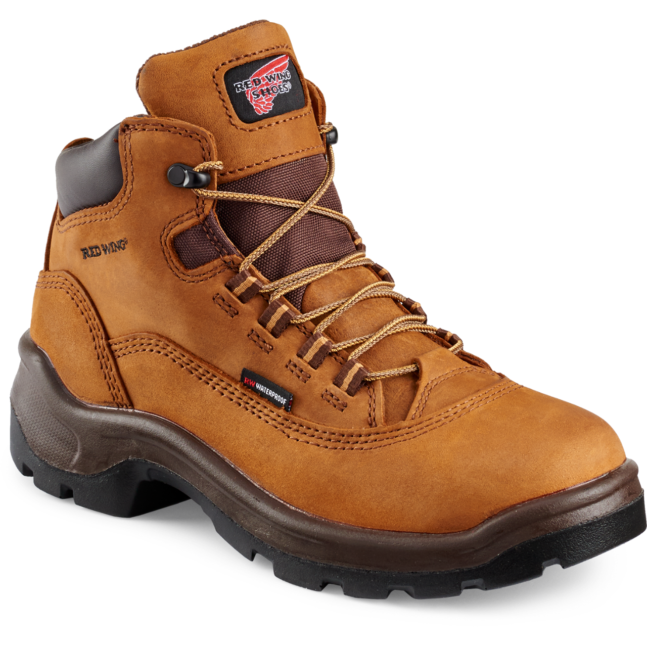 Red Wing 2327 - Women's 5-inch Boot Brown  Steel Toe - Waterproof Electrical Hazard - Core Style  Click here for specifications