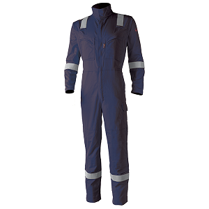 SACLA8MASCN - Aso Multi Risk Coverall Navy Blue  • Fire Retardant • Non allergic fabrics • Self extinguishing • No Dripping, no melting • Light weight garments • High resistance fibers  Click here for specifications