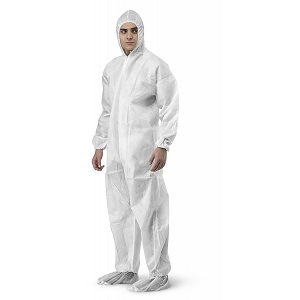 LIB19125 - PROGUARD COVERALL EWA  • Disposable Coverall • Protection against dust, liquid, oil grease, blood, saline diluted & etc • Soft & ligthweight fabric