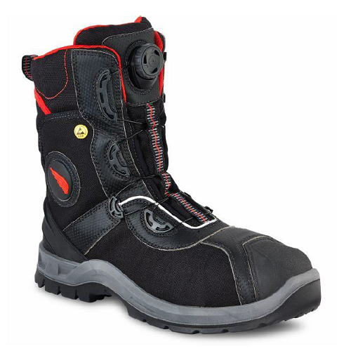 Red Wing 3208 - Men's 8 Inch Petro King  Non-Metallic Toe, Metatarsal Guard, Puncture Resistant, Static Dissipative, Waterproof, HRO Heat Resistant, ForceGuard, Boa, D30, Lenzi, Ankle Protection  Click here for specifications