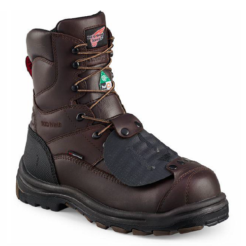 Red Wing 3530 - 8 Inch Mahogany Cider Leather  Non-Metallic Toe, Electrical Hazard, Metatarsal Guard, Puncture Resistant, Waterproof, Swen Flex,  HRO Heat Resistant, King Toe, Vibram.  Click here for specifications