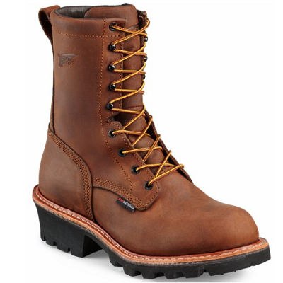 Red Wing 4420 - LoggerMax 9-inch Logger Boot  Steel Toe, Electrical Hazard, Insulated, Waterproof, ComfortForce, Red Wing Waterproofing System, Red Wing Leather, HRO Heat Resistant, Vibram®  Click here for specifications