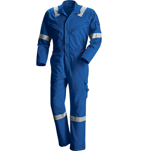 61821 - RW Tropical FR Vented Coverall (54) Royal Blue  • Material: Red Wing FlashGuard • Flame Resistant Garment, CAT2 • Anti-Static Garment, Electric Arc Flash • Elasticized waistband  Click here for specifications