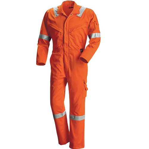 61821 - RW Tropical FR Vented Coverall (57) Orange  • Material: Red Wing FlashGuard • Flame Resistant Garment, CAT2 • Anti-Static Garment, Electric Arc Flash • Elasticized waistband  Click here for specifications