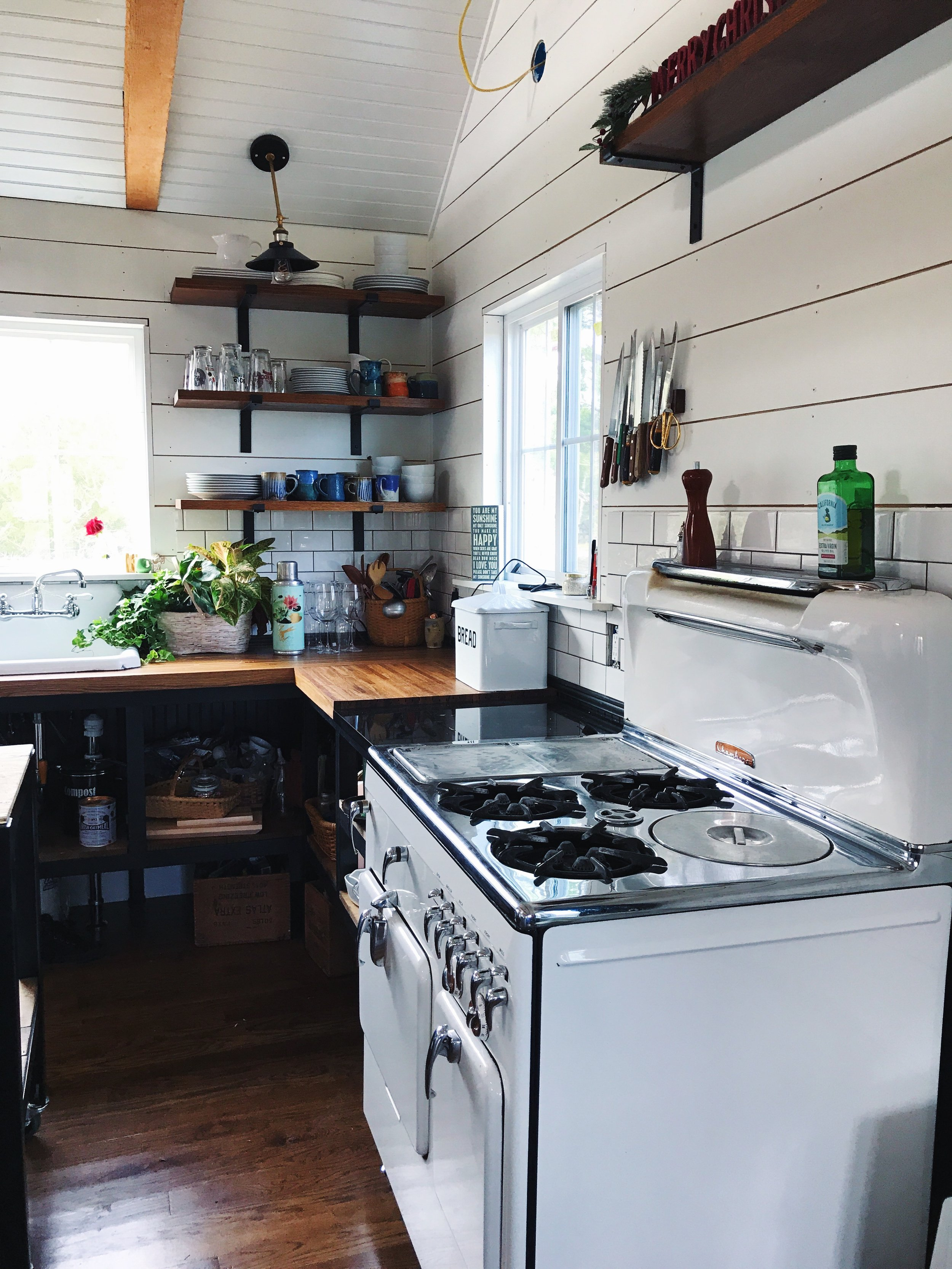 Kitchen with Chambers Stove