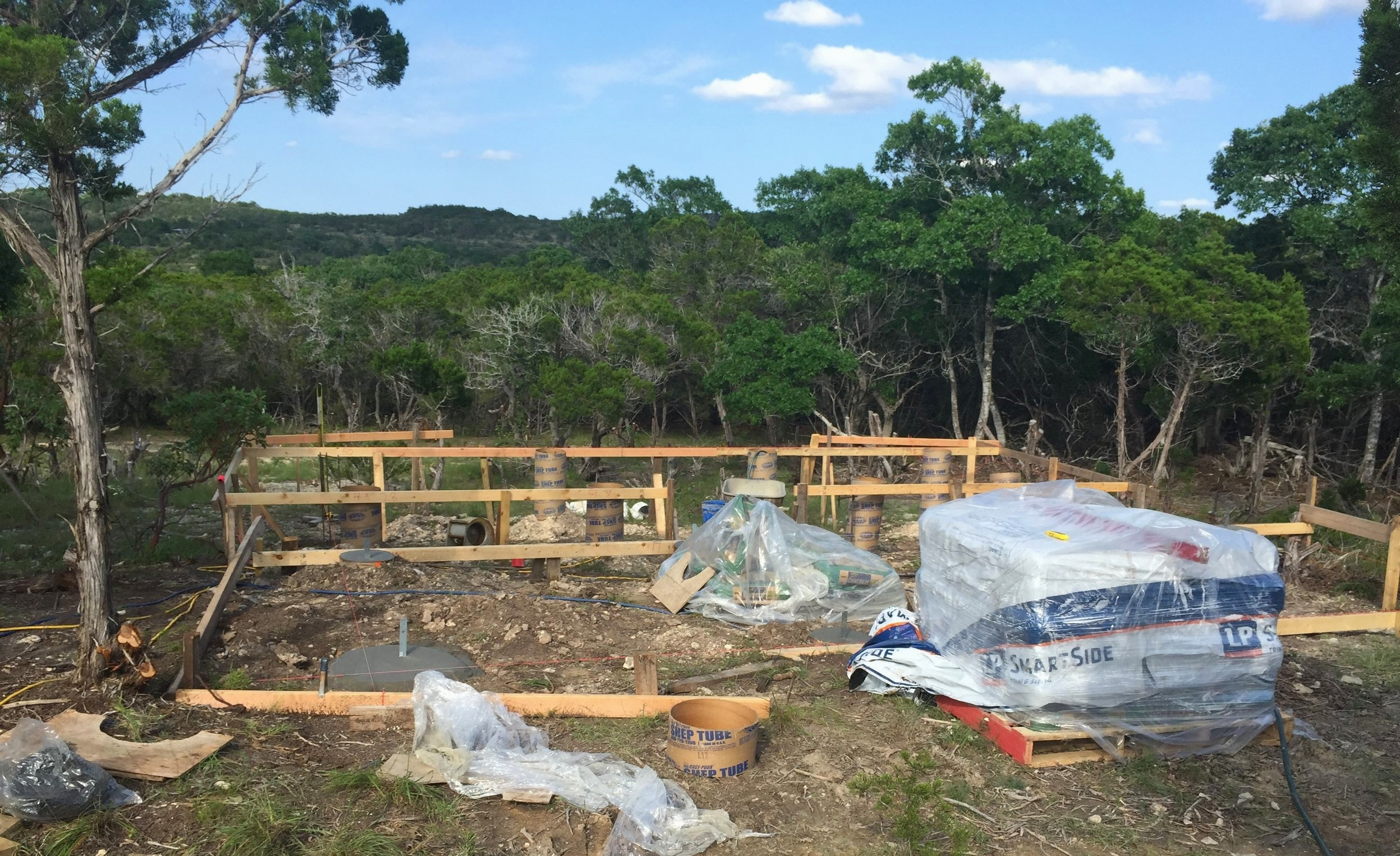 Pier and beam foundation for our Solar Cottage