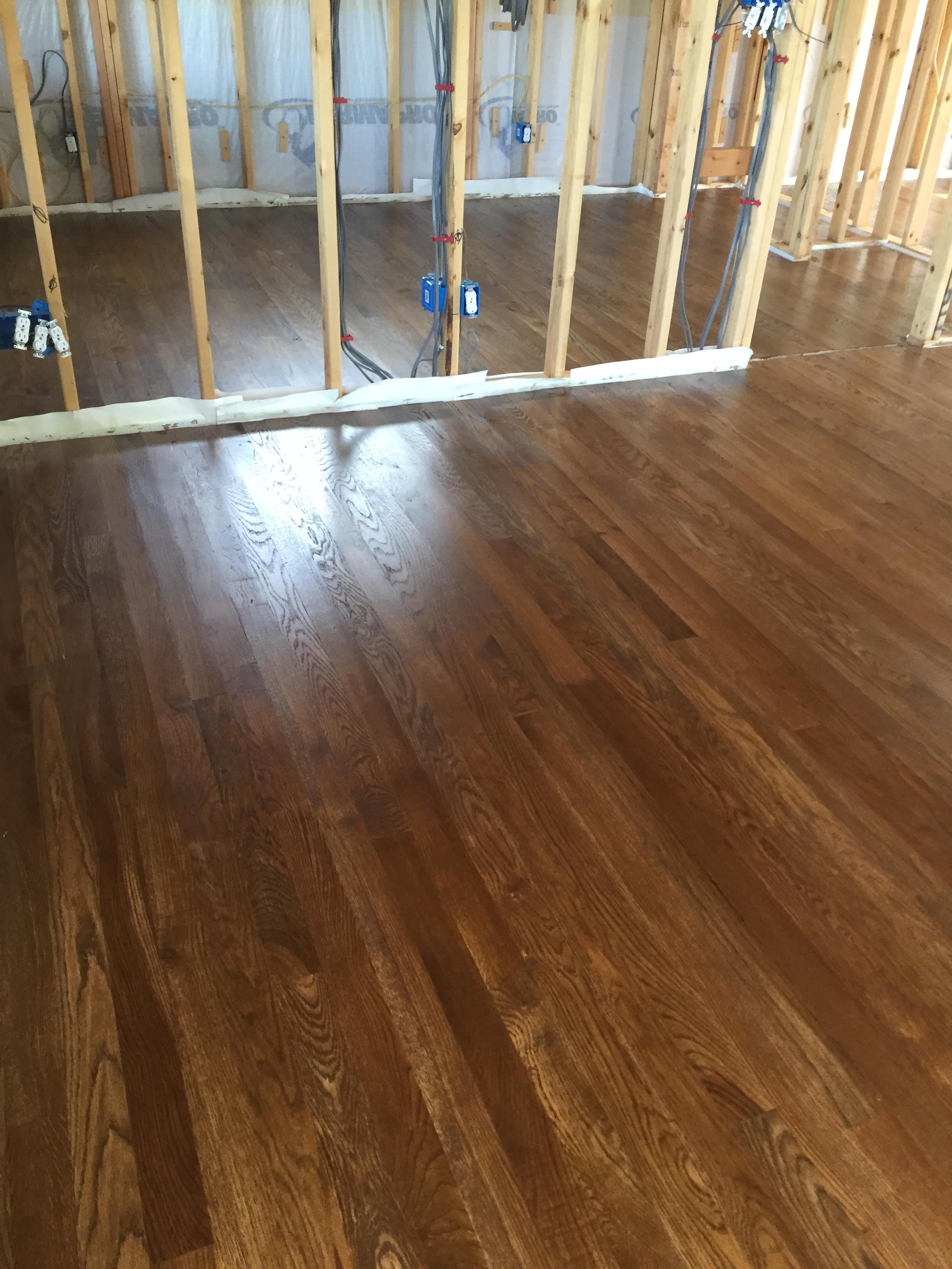 Solid Hardwood flooring-before being sealed