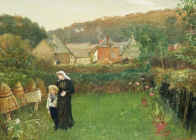 Charles Napier Hemy 's painting  The Widow  (1895)