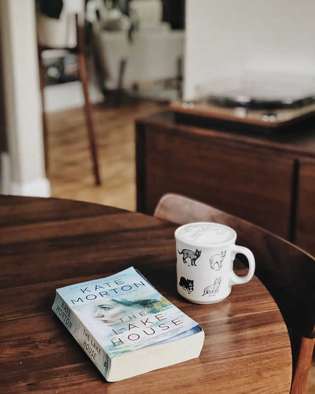 Actually followed your advice when I asked what I should pick up from my giant book stack and started The Lake House! It's entertaining so far. I'm enjoying the mystery aspect. Enjoying it alongside a homemade oat milk latte. What are you reading? . . . . . #thelakehouse #katemorton #bookstagram #bookish #booksandcoffee #coffeeandbooks #booksandbeans #slowlived #simplethingsmadebeautiful #slowmornings #ofsimplethings #ofquietmoments #readstagram #simplejoys #thatsdarling #thehappynow #hyggelife