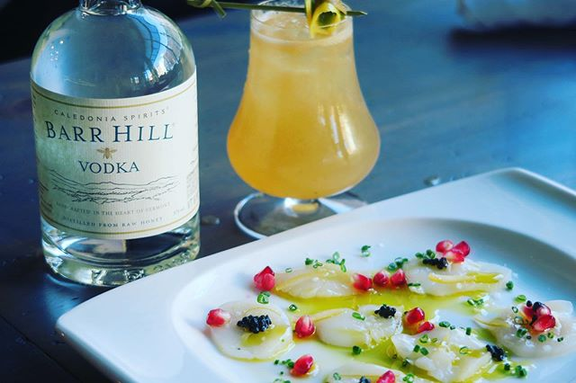 Teaser!!! 1st Course for our @barrhillgin Cocktail Pairing Dinner THIS WEDNESDAY, 10/23. - 5 Special Barr Hill Cocktails - 5 Awesome Dishes - Only 15 seats - And friends from Barr Hill bringing sweet treats.  Link in Bio for tickets.  We are super excited to welcome Barr Hill. They produce amazing spirits locally in Vermont and are an awesome and mindful company.  #portsmouthnh #seacoastnh #nhrestaurants #supportlocal #eatlocal #drinklocal #lureportsmouth #specialevents #bigwindows