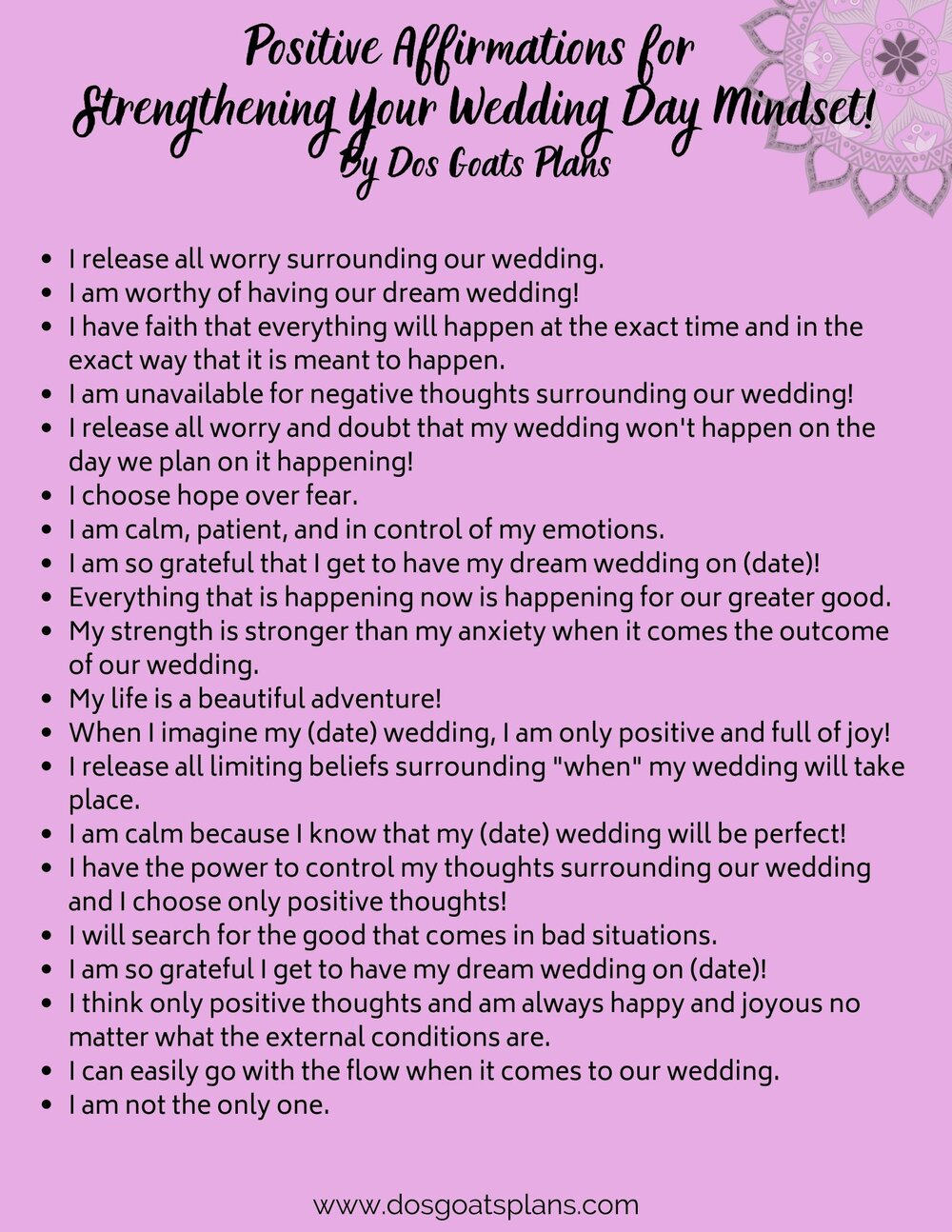 Couples positive affirmations for Happy Marriage