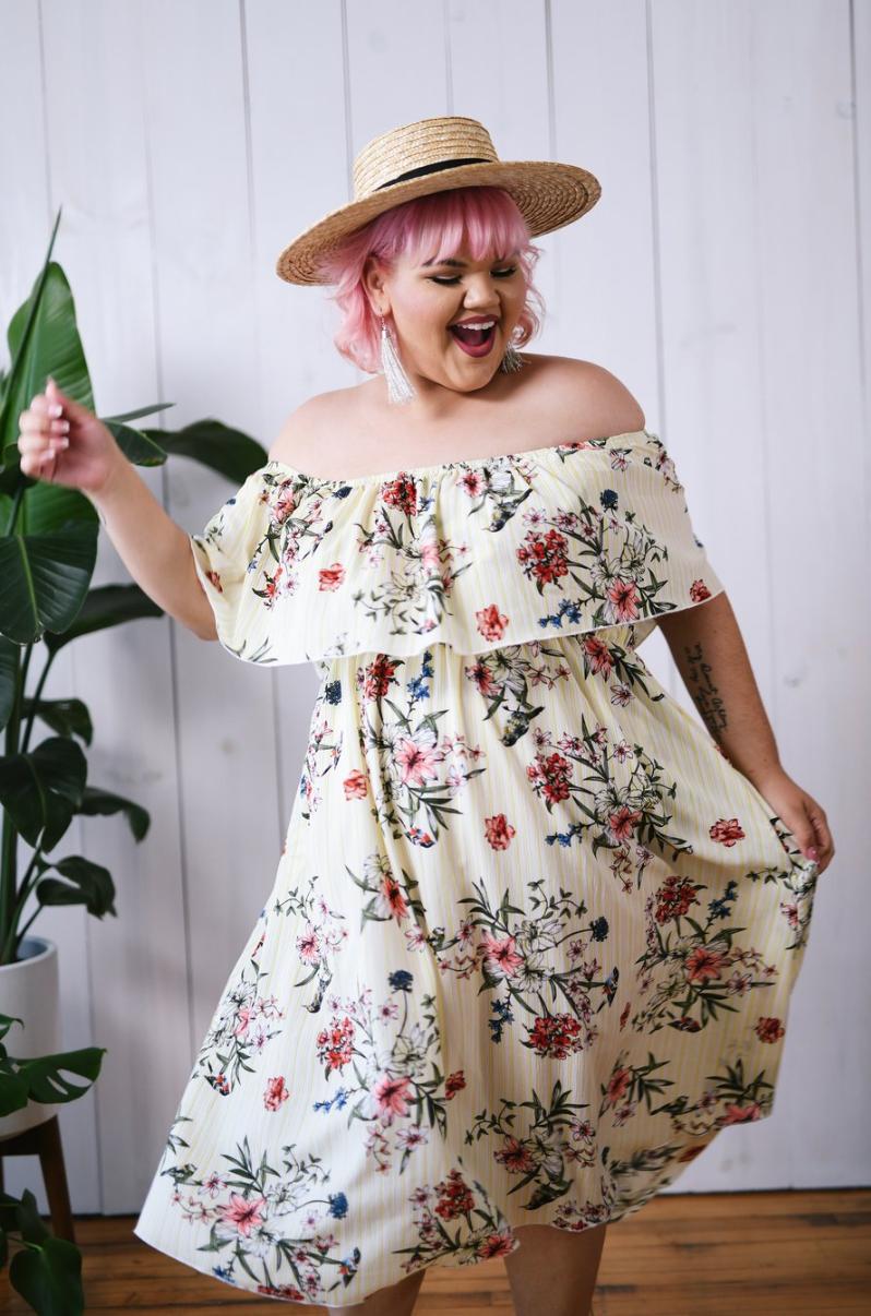 Keena Flounce Dress
