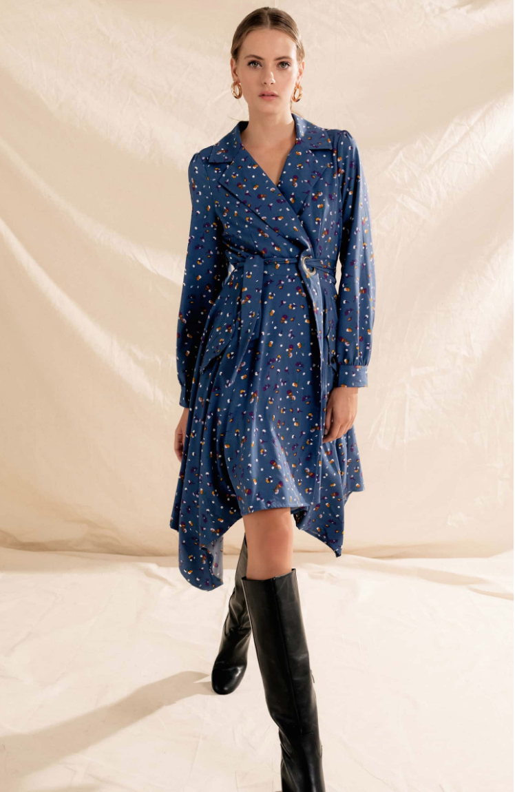 Wren Floral Print Trench Dress