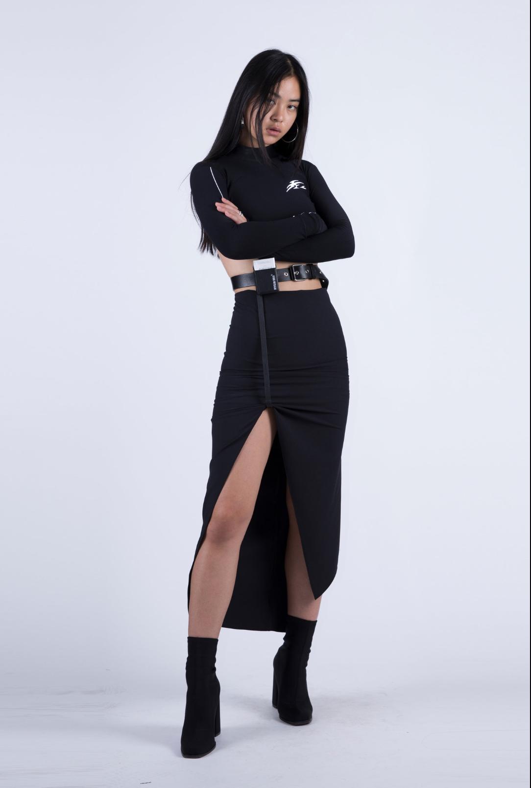 Skirt W/ Leather Belt