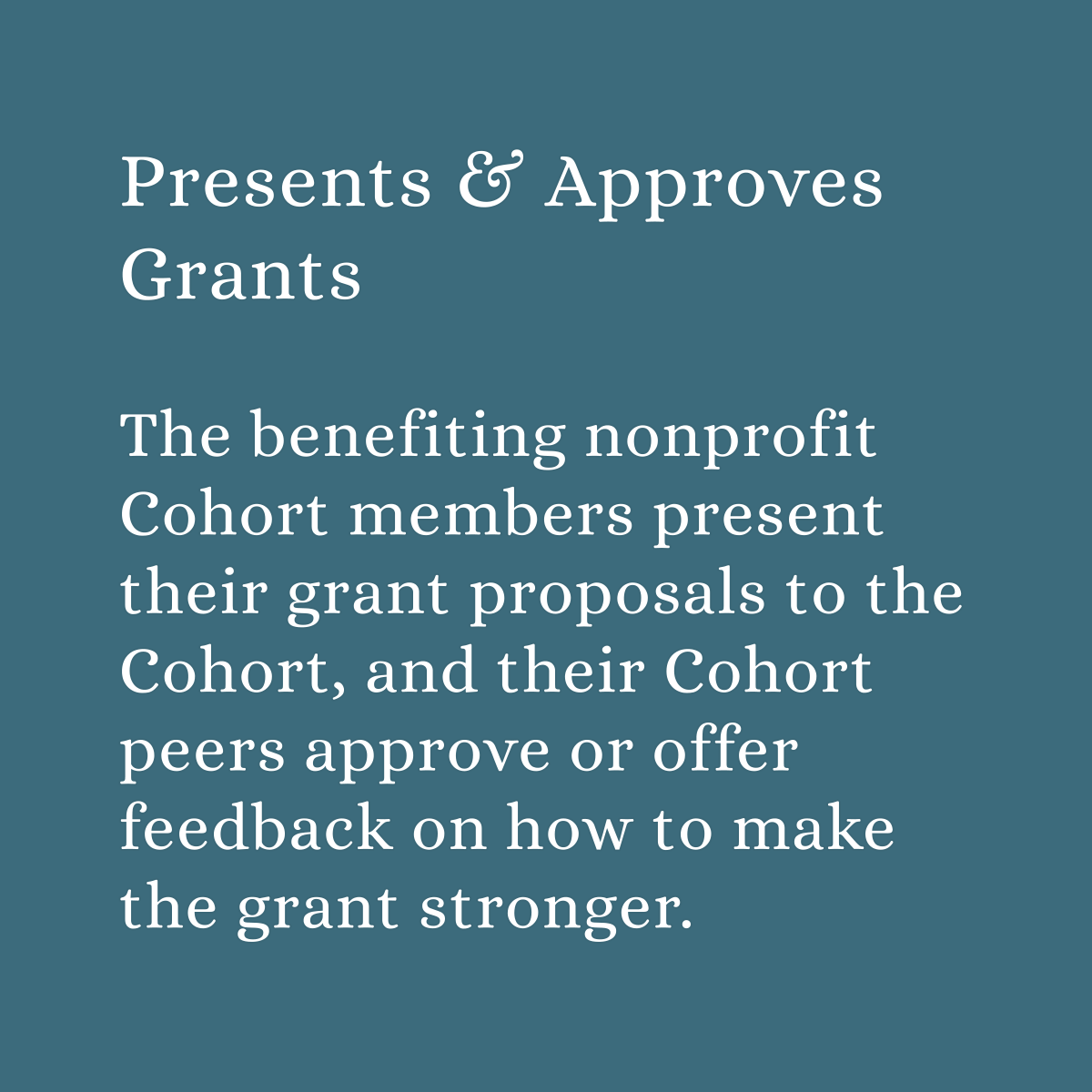 Cohort Details Gallery Tiles_Presents and Approves Grants.png