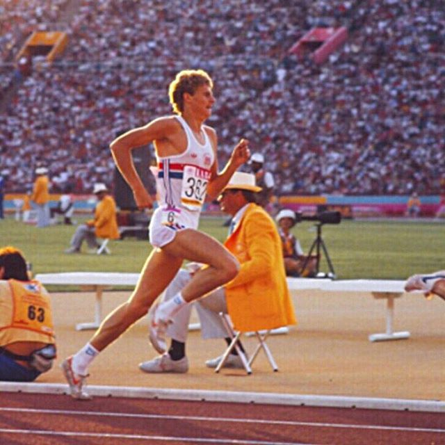 """It's possible that a lot of you have never heard of this guy, but we could watch Steve Cram race all day long. Nicknamed the """"Jarrow Arrow,"""" Cram was World Champion at 1500m and boasted a mile PR of 3:46, which happened to be a World Record at the time. Click on the temporary link in our profile to watch highlights from 12 of Cram's best races."""