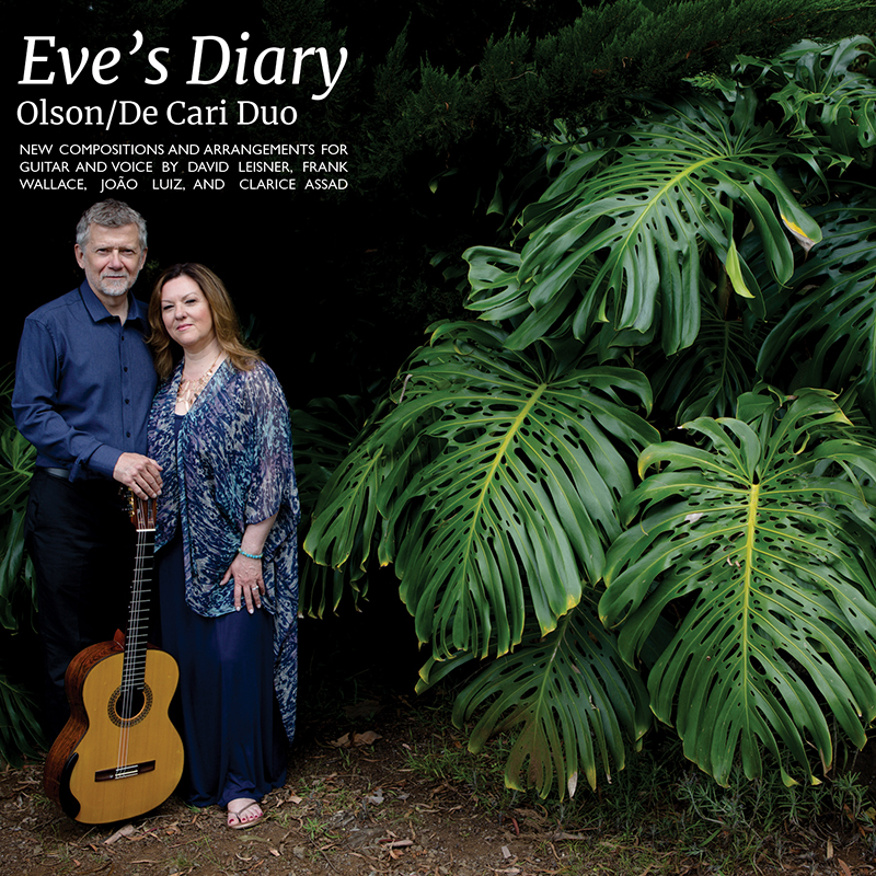 Eve's Diary - Coming in October 2018New compositions and arrangements for guitar and voice commissioned by the Olson/De Cari DuoRelease concert:Friday, October 12, 2018, at 8:00 PMScorca at the National Opera Center330 7th Avenue, 7th FloorNew York City