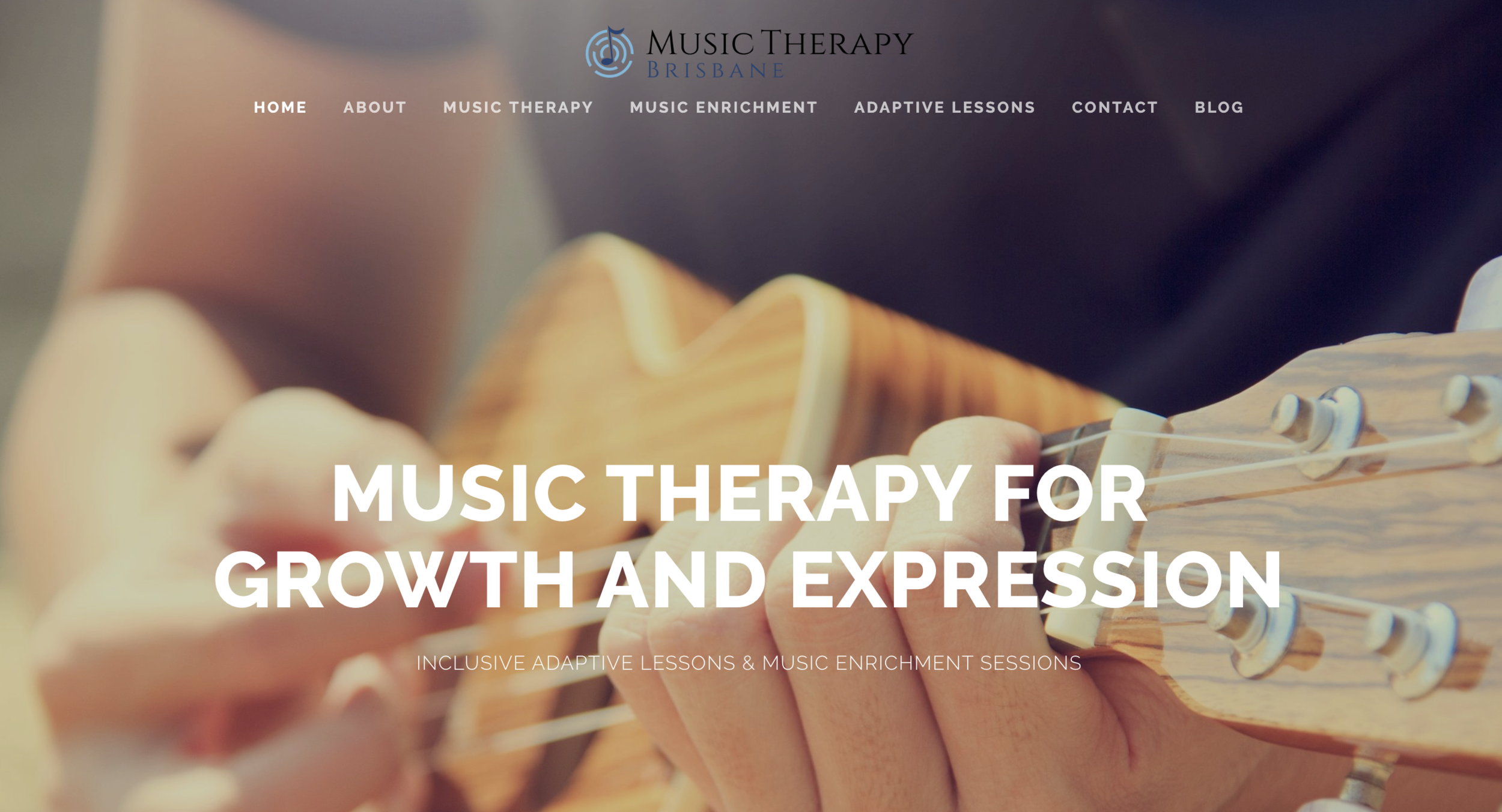Music therapy website design on Squarespace