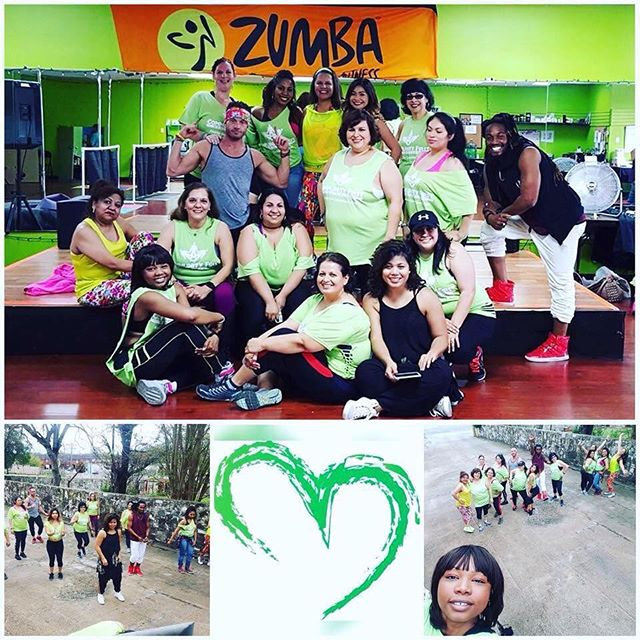 And we found our tribe rocking love like fashion. @mercakes_82 you inspire so many of us!  #love #zumba #tribe #green #ztribe #dance #sweat #ourjourneys