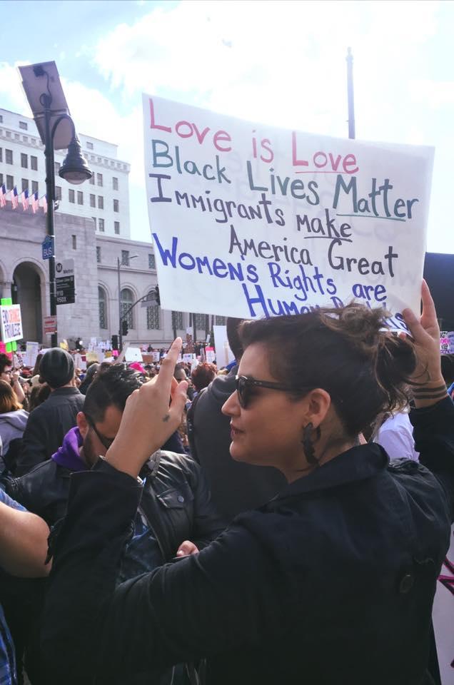 DOOR Network Volunteer Los Angeles LA Protest Black Lives Matter