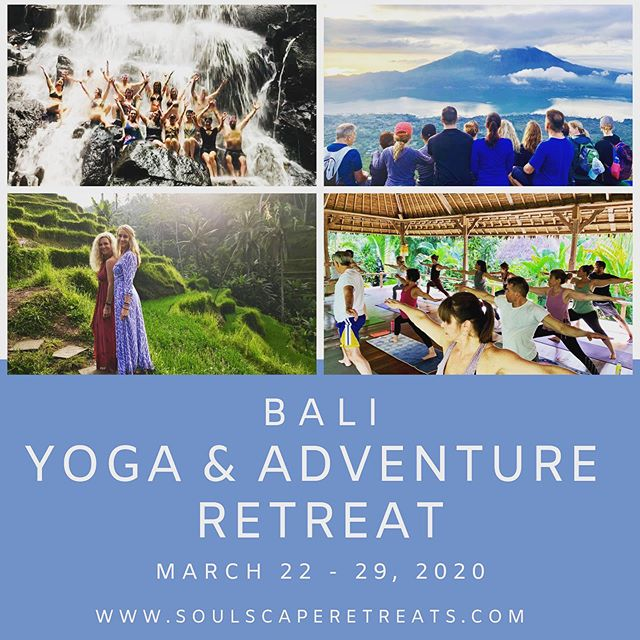 Join @katienesbittyoga and @amsbeach for their next BALI YOGA & ADVENTURE Retreat next March 22-29th. . This beautiful week will bring you greater clarity, health, wellbeing, and truly allow your soul to escape the ordinary day-to-day. Amy & Katie really know how to travel and bring the culture of Bali that they love so much into your soul. Sign up early, as this retreat always fills up fast! . Check out details at www.soulscaperetreats.com 🙏🏼