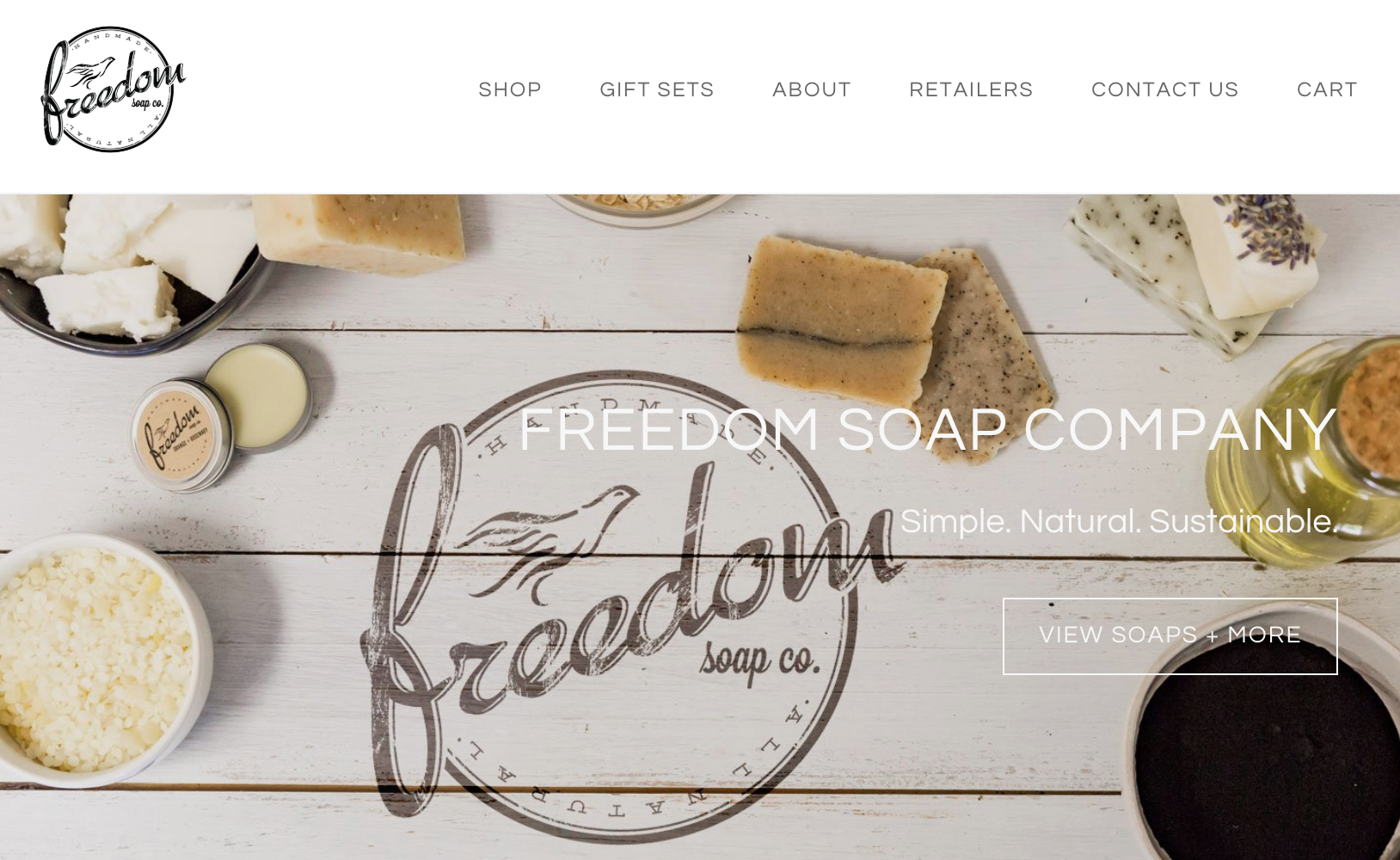 Branding photography created for Freedom Soaps to showcase their all natural soap and cleansing products. This image was used for their website hero image created by Zeekee, a Bell Media Company.