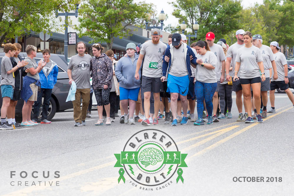 Brain cancer survivors were honored this year in a Survivor Walk at the Blazer Bolt for Brain Cancer.