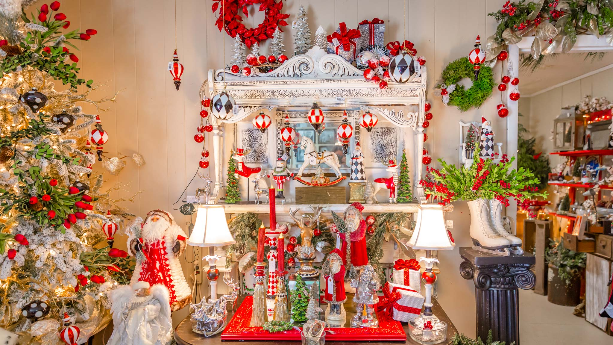 The Christmas shop on site designed by the owner, Carly.