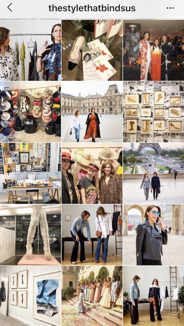 The Style that Binds Us recent Instagram posts featured here showcase how a consistent look and feel of images can draw viewers to the content. Photos seen here are ones taken by Alison, Delia, and Diana Davis Creative.