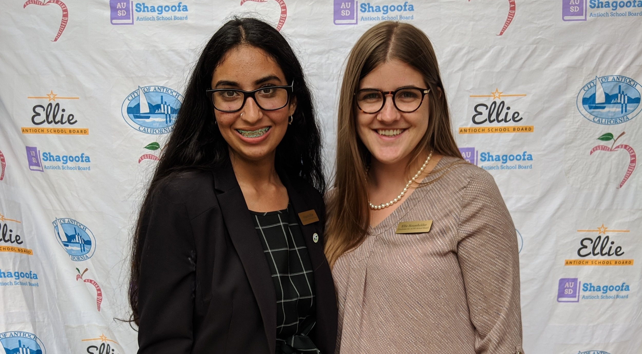 Ellie & Shagoofa for Antioch Unified School Board - Two young women have teamed to run for Antioch Unified School District's school board. Ellie Householder and Shagoofa Khan are both products of this district and are seeking to make schools even stronger for the students who follow them.