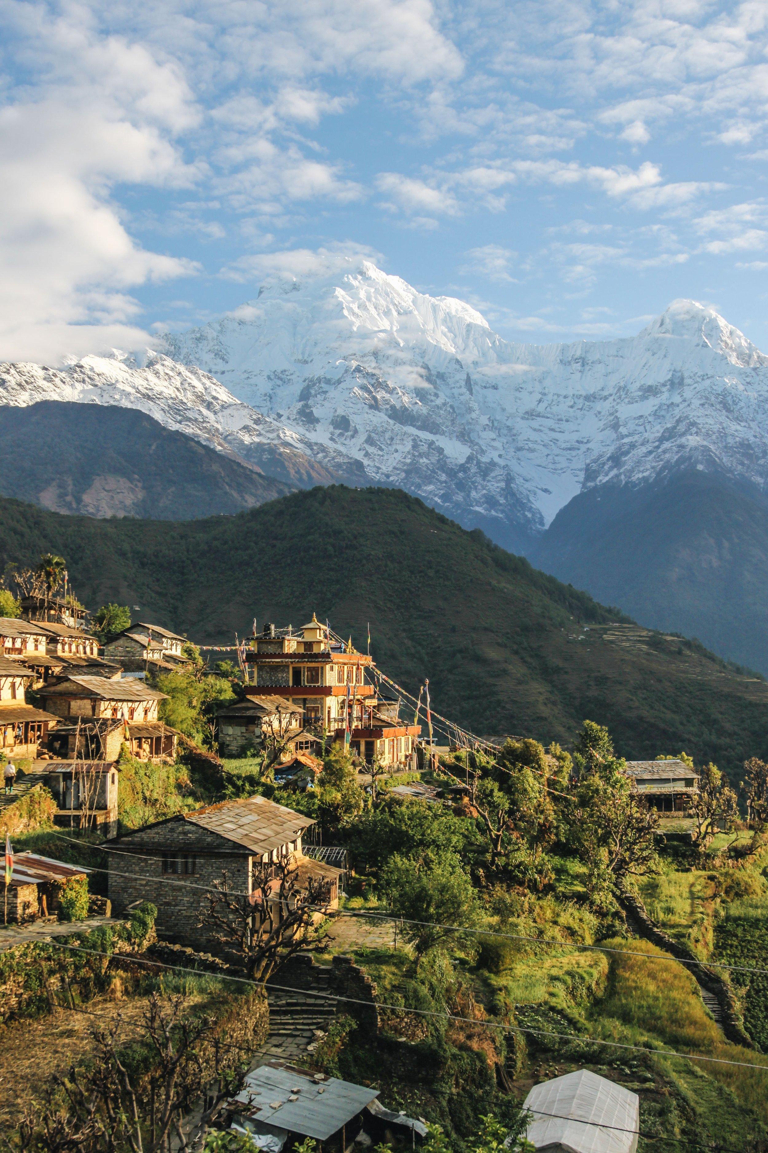 Photo of Nepalese mountain village by Giuseppe Mondì on Unsplash