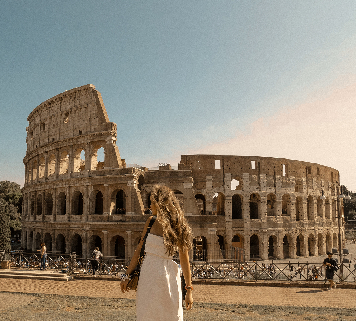 In front of Colosseum in Rome