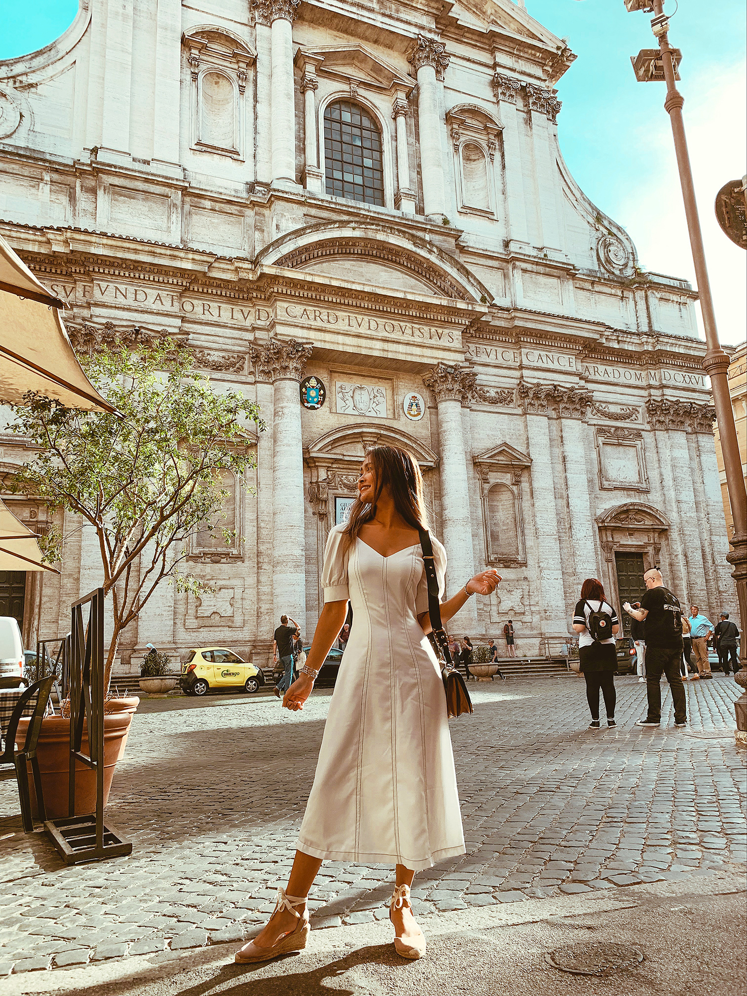 In front of one of the many churches in Rome