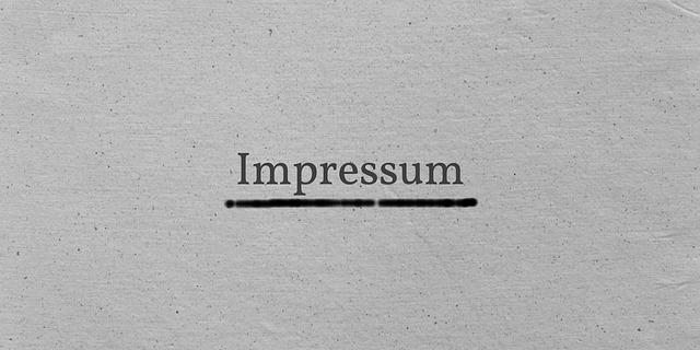 Impressum -