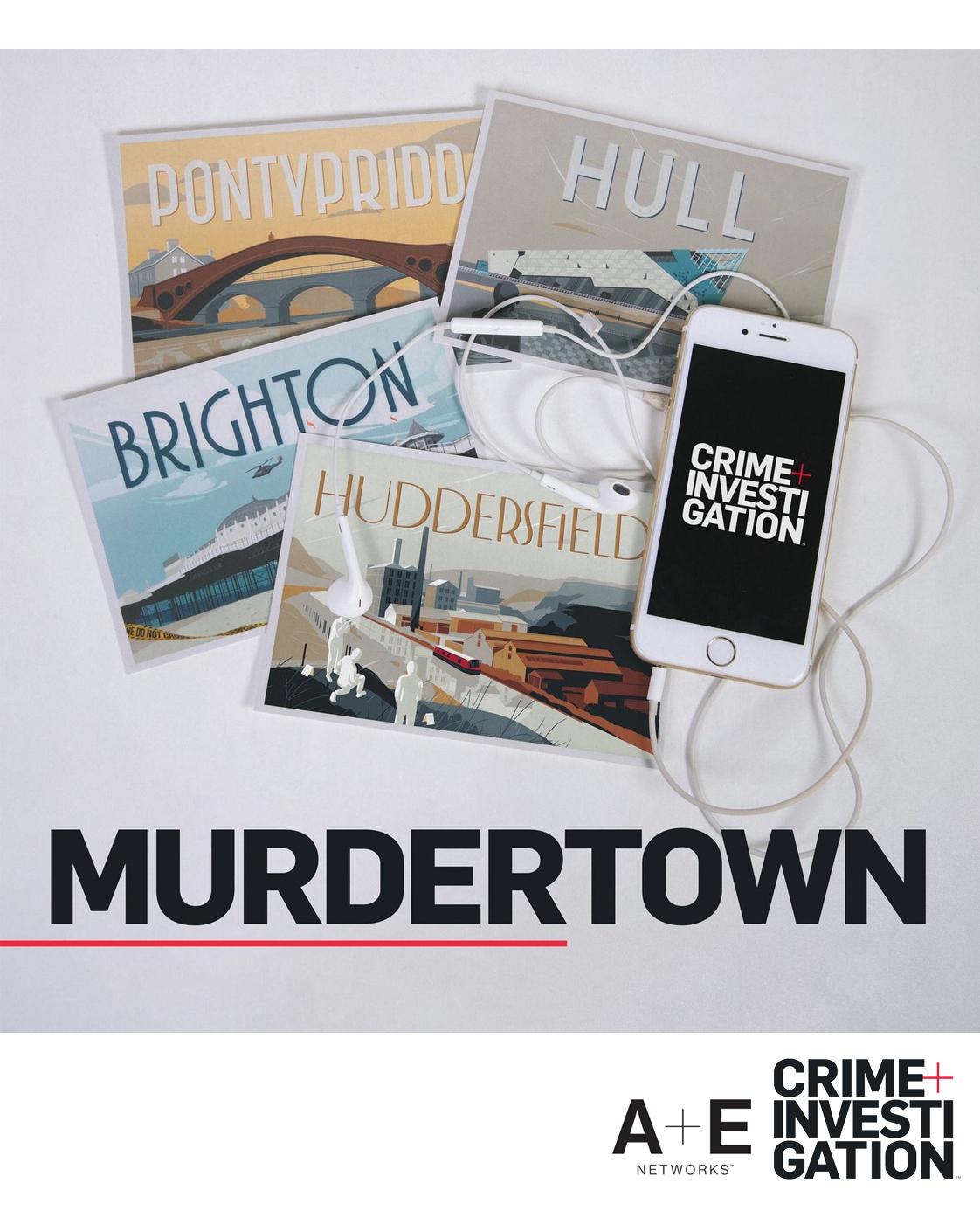 True Crime 10 episodePodcast Series - RESEARCHER & SCRIPTWRITERA COMPANION PODCAST:A+E Crime & Investigation TV SERIES 'MURDERTOWN'