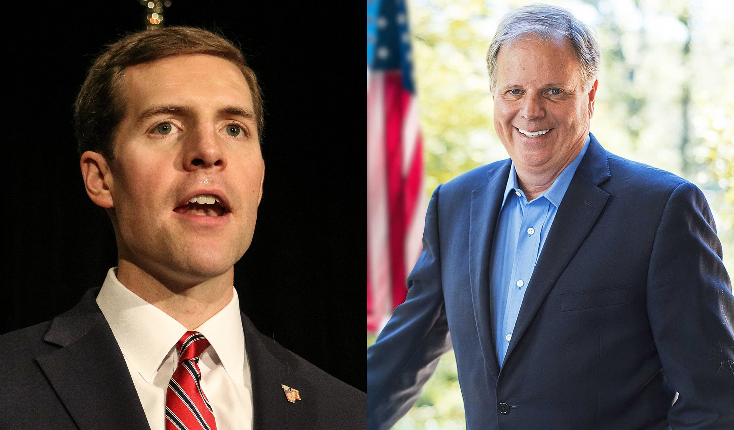 Links: Conor Lamb; Rechts: Doug Jones (Bild: Doug Jones for Senate Committee)