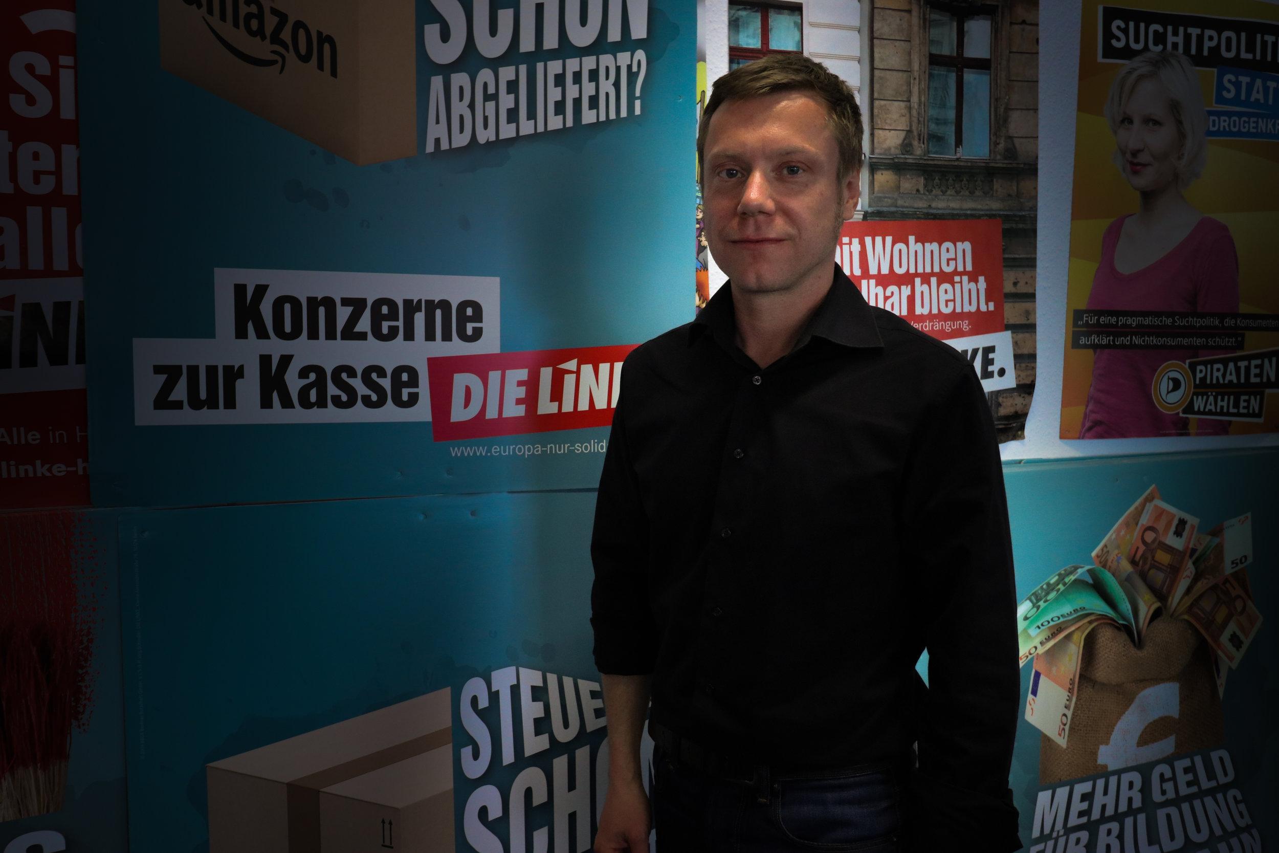 """""""Solidarität wird nicht an der börse gehandelt"""" - Martin Schirdewan, Spitzenkandidat, DIE LINKE"""