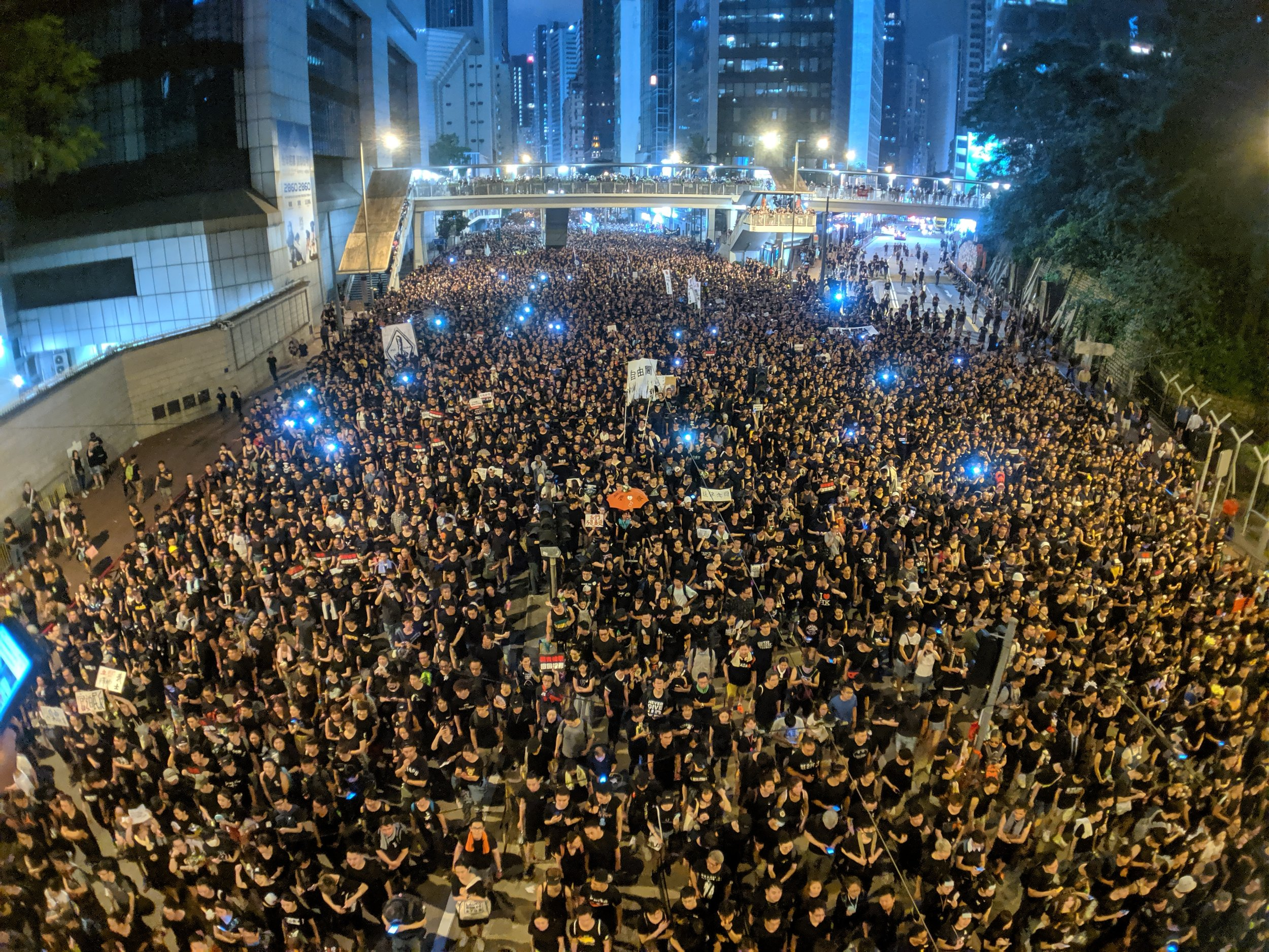 Demonstranten in Hong Kong (Bild: flickr.com/StudioIncendo)