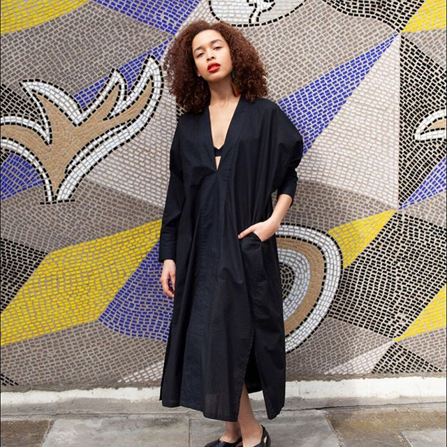 Our Joyce dress in 💯 % cotton named after my paternal Bengali grandmother. Her real name was Joystna but know as Joyce here in the UK.  This dress is adaptable - with or without a belt and versatile. A staple all year round piece. Available online #linkinbio