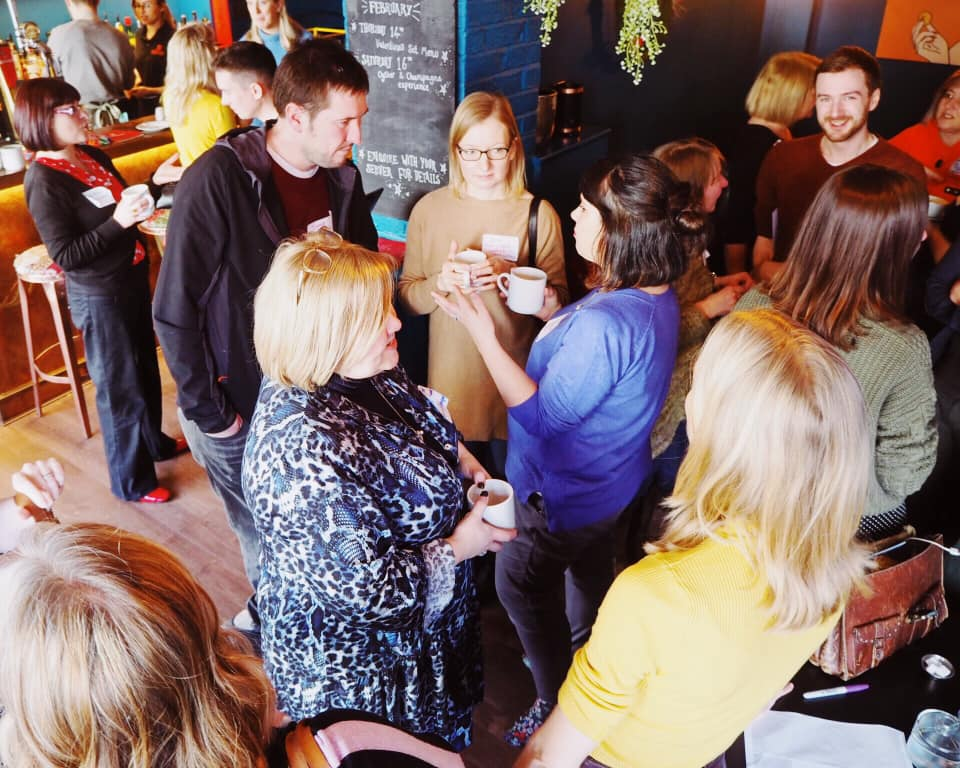 Our first #SKCreative meetup at Chaat Cart in Manchester.  Image: Katya WIllems