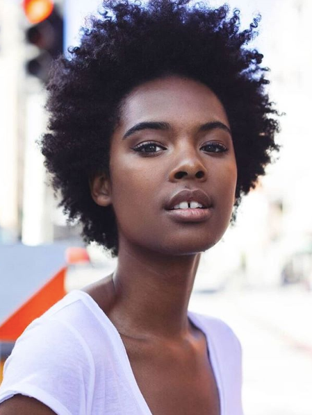 """@sharahya.carter: """"So proud of my fro! Going natural was a difficult journey. Sometimes I'd love it and sometimes I was ready to cut it off again lol. BUT in the process I've grown closer to myself and have a greater appreciation for my natural beauty."""""""