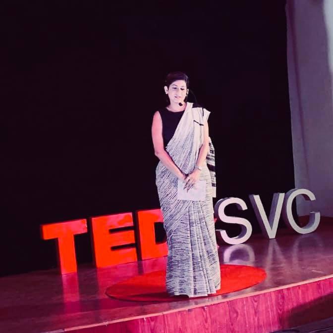 At TEDx SVC - New Delhi