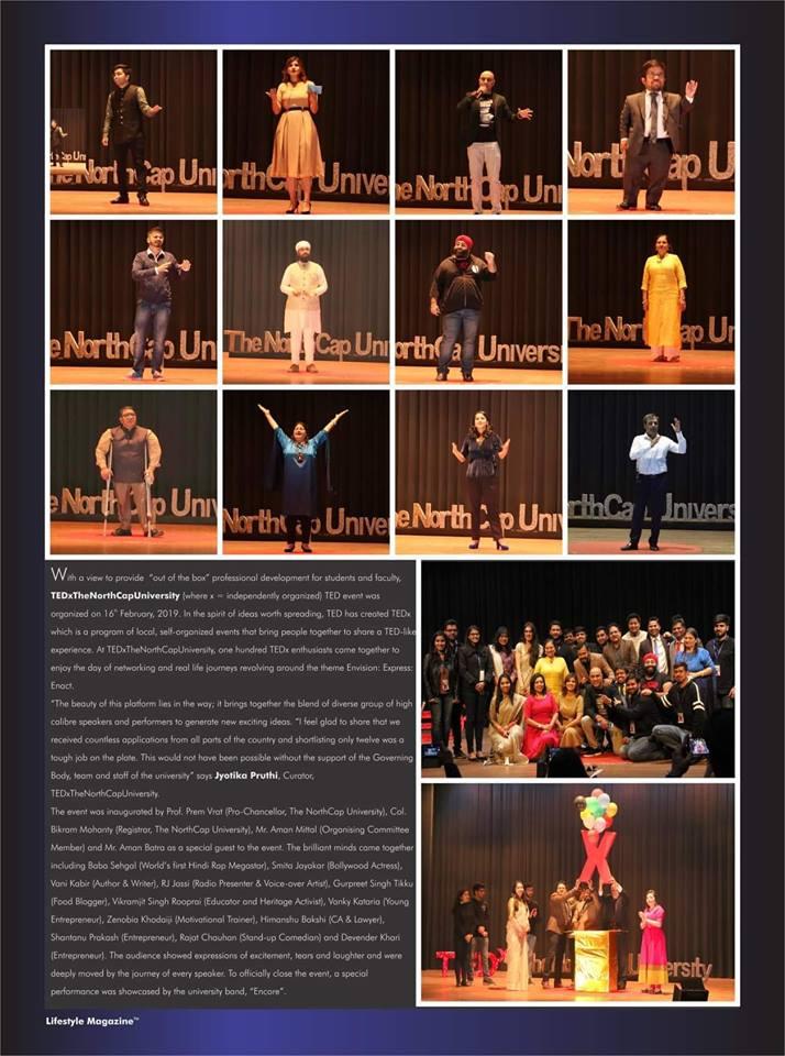 Tedx coverage in lifestyle magazine - Gurgaon