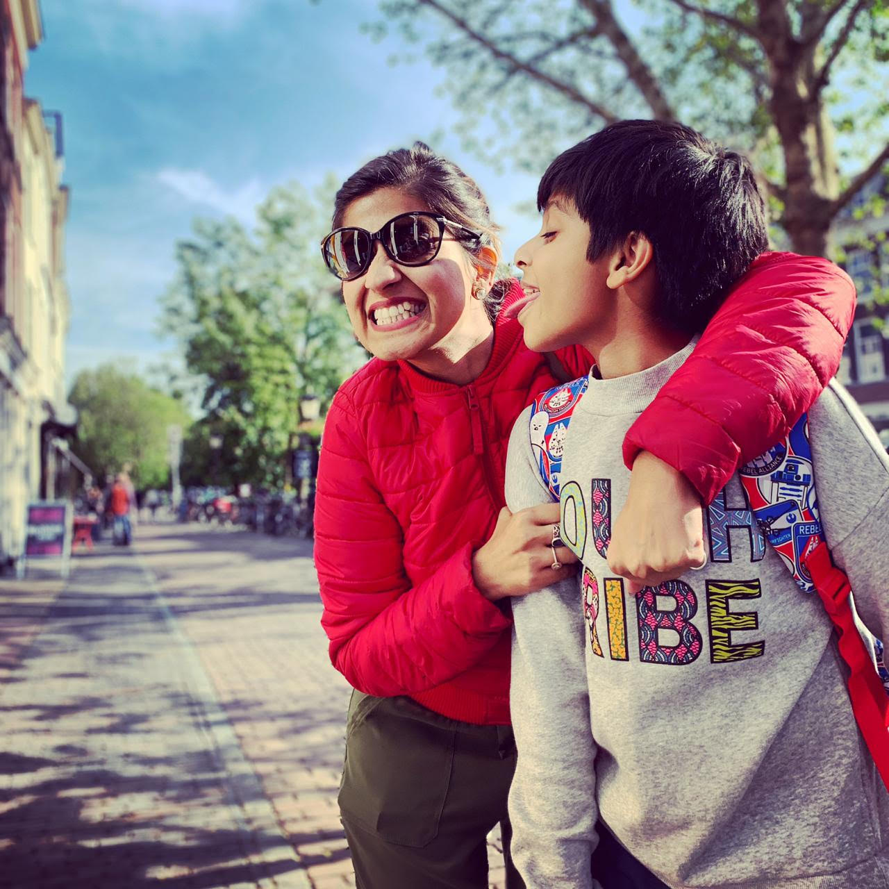 With my son in #amsterdam