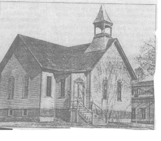 History of 31 W Main Street, Wickford Rhode Island - In 1885 the building was originally a Methodist Episcopal Church built by the Sherman Brothers. Around 1900 the church steeple was removed, and the building was turned into the Ambulance Association of North Kingstown. For a short time afterwards it became a small museum housing firefighting memrobilia such as the