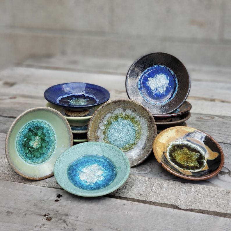 Geode Trinket Dish  Dock 6 Pottery