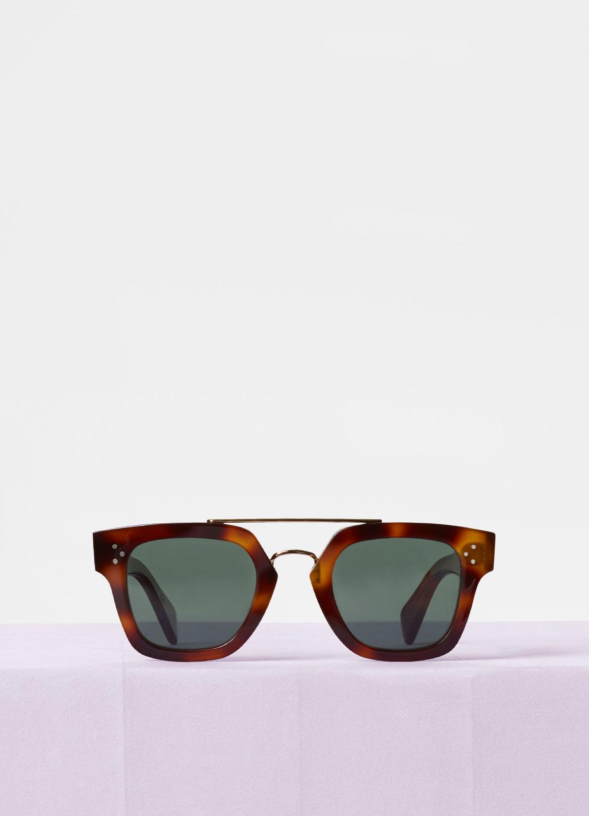 CELINE- CL40024U Sunglasses  £340  COLOUR Tortoise/Gold  CATEGORY SUN  MATERIAL Combination  SHAPE Wayfarer