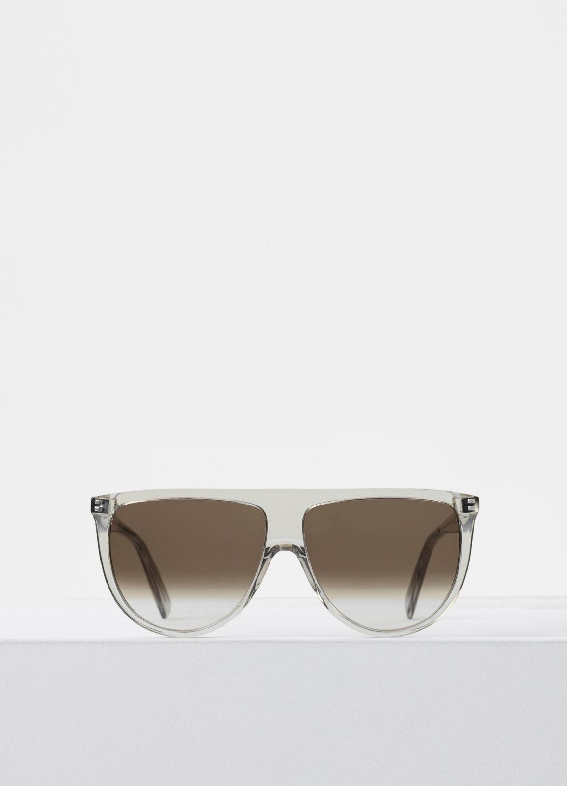 CELINE- CL40006I Sunglasses  £270  COLOUR: Transparent  CATEGORY SUN  MATERIAL Acetate  SHAPE Square