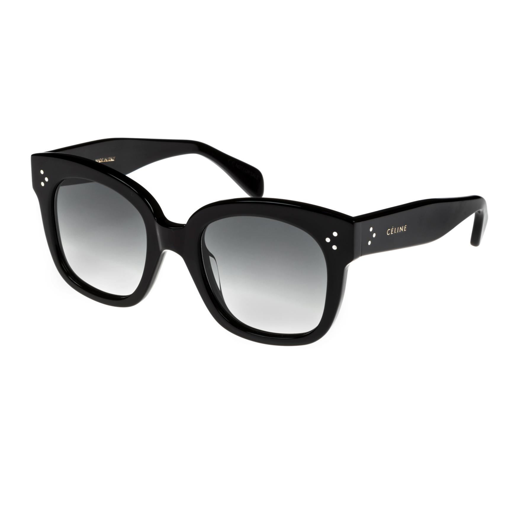 CELINE- CL40002U Sunglasses  £270 (Sold out)  COLOUR Black  CATEGORY SUN  MATERIAL Acetate  SHAPE Square